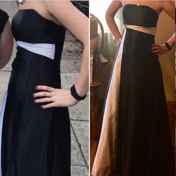 Dresses & Skirts - Black And White Prom Dress